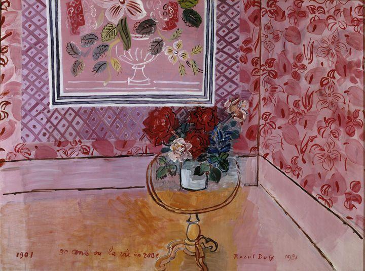 """Raoul Dufy, """"30 ans ou la vie en rose"""", 1901,Paris, Musée d'art Moderne de Paris, donation de Mme Mathilde Amos, 1955 (© Adagp, Paris 2021)"""