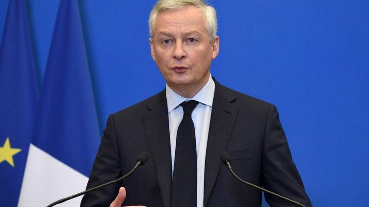 Le ministre de l'Economie, Bruno Le Maire, à Paris, le 26 avril 2021. (ERIC PIERMONT / AFP)