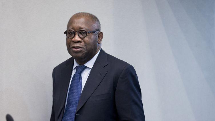 Laurent Gbagbo, ancien président de la Côte d'Ivoire, le 28 janvier 2016, devant la Cour pénale internationale à La Haye (Pays-Bas). (PETER DEJONG / AFP)