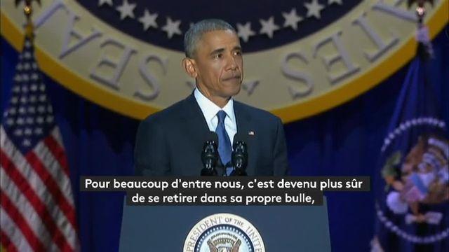 Les adieux de Barack Obama résumés en moins de trois minutes