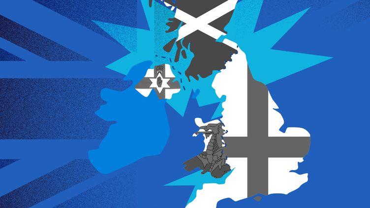 De l'Ecosse à l'Irlande, le Brexit a mis à mal l'unité du Royaume-Uni. (JESSICA KOMGUEN / FRANCEINFO)