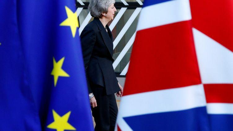 La Première ministre Theresa May arrive au sommet des chefs d'Etat européens à Bruxelles (Belgique), le 13décembre2018 (FRANCOIS LENOIR / REUTERS)
