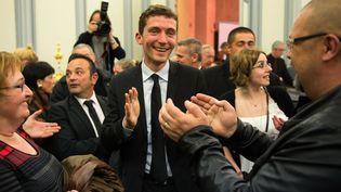 Le nouveau maire FN de Beaucaire (Gard), Julien Sanchez, le 30 mars 2014. (BERTRAND LANGLOIS / AFP)