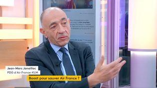 Jean-Marc Janaillac, PDG d'Air France-KLM (FRANCEINFO)