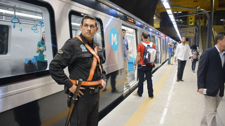 Une station de la nouvelle ligne de métro à Rio de Janeiro (Brésil), le 31 juillet 2016. (MAXPPP)