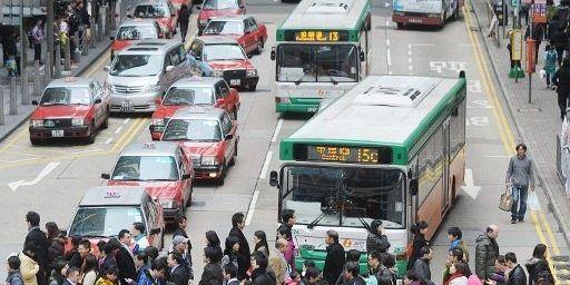 Le quartier central des affaires à Hong Kong. (AFP PHOTO/MIKE CLARKE)