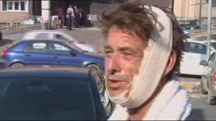 Bruno Girodon, cameraman de France2, interviewé sur SkyNews, mercredi 24 août 2011. (SkyNews)