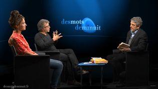 """Maria Pourchet et Lionel Naccache dans l'émission """"Des mots de minuit"""". (Des mots de minuit)"""