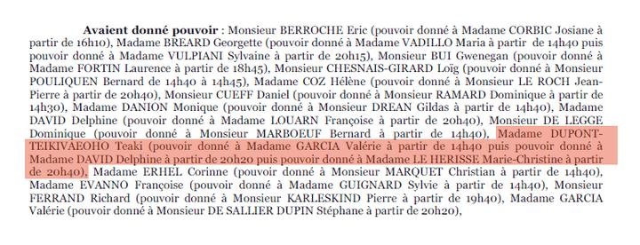 Extrait du procès-verbal dela séance plénière du conseil régional de Bretagne, du 11 octobre 2012. (FRANCETV INFO)