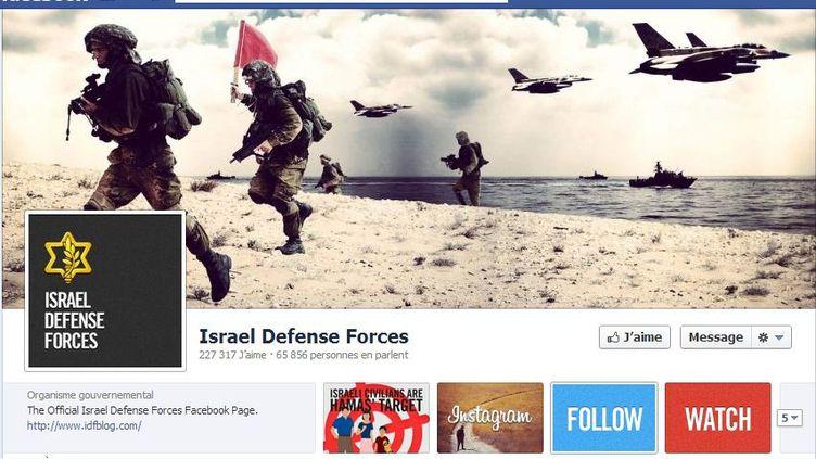 La page Facebook de Tsahal, l'armée israélienne, le 15 novembre 2012. (FRANCETV INFO)