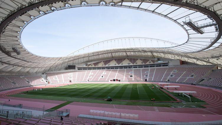 Le stade Khalifa International de Doha (Qatar), le 9 janvier 2019. (PETER KNEFFEL / DPA / AFP)