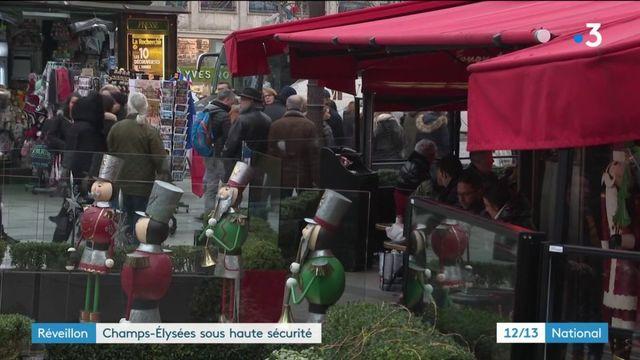 Réveillon : Champs-Elysées sous haute sécurité