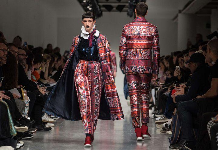 Sibling ah 2017-17 à la London Fashion week, janvier 2017...  (James Gourley/Shutterst/SIPA)