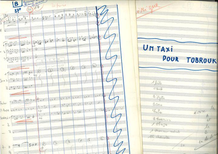"""""""Un Taxi pour Tobrouk"""" (1961), film réalisé par Denys de la Patellière. Estimation : 1000 / 1500 euros (v1) (Xavier Defaix)"""