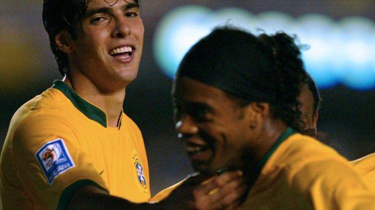 Kaka et Ronaldinho lors du Mondial-2010