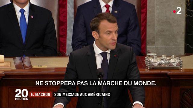 États-Unis : Emmanuel Macron lance un message devant le Congrès américain