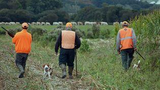 Un petit groupe de chasseursde lièvres.(photo d'illustration) (VINCENT MOUCHEL / MAXPPP)