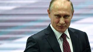 Le président russe Vladimir Poutine à Moscou, le 29 novembre 2017. (YURI KADOBNOV / AFP)