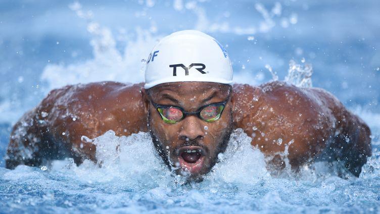 Mehdy Metella, qualifié pour la finale du 100m papillon (STEPHANE KEMPINAIRE / STEPHANE KEMPINAIRE)