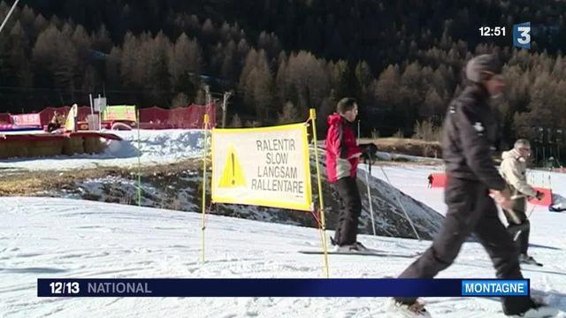 Le manque de neige pousse les skieurs à plus de vigilance