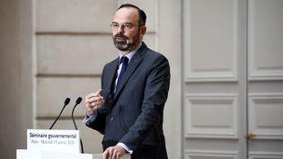Le Premier ministre Edouard Philippe lors du compte-rendu du conseil des ministres qui s'est tenu à Paris le 15 janvier 2020. (BENOIT TESSIER / POOL / AFP)