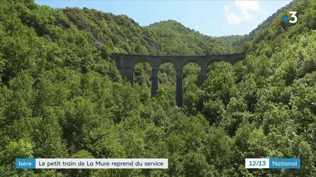 Isère : le petit train de la Mure reprend du service après dix années d'interruption