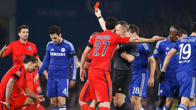 L'expulsion de Zlatan Ibrahimovic a changé la face du match face à Chelsea (PSG) (BEN QUEENBOROUGH/BPI/RE/REX/SIPA / REX)