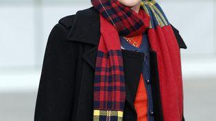 Le mannequin britannique Stella Tennant assiste à un défilé Chanel au Grand Palais à Paris (27 janvier 2015) (FRANCOIS GUILLOT / AFP)