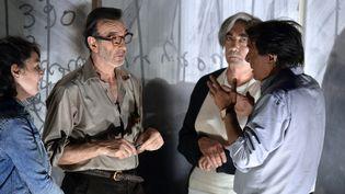 """Robin Renucci pendant les répétitions de """"La Leçon"""" au TNP de Villeurbanne  (JEAN-PHILIPPE KSIAZEK/AFP)"""