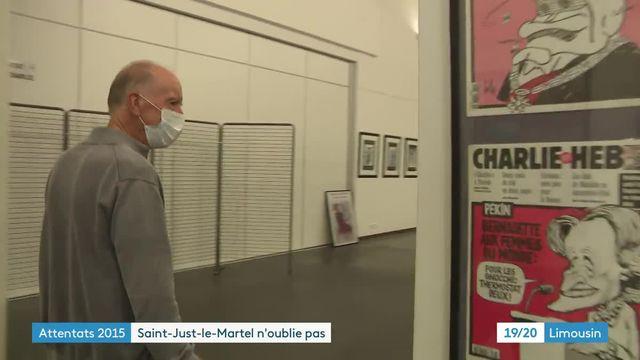 Expo Charlie Hebdo au salon de saint just le martel