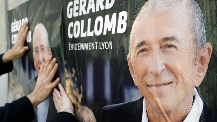 Le maire de Lyon, Gérard Collomb, a été réélu pour un troisième mandat, dimanche 30 mars. (PHILIPPE DESMAZES / AFP)