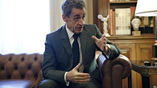 Nicolas Sarkozylors d'une visite à Athènes (Grèce), le 23 octobre 2017. (ALEXANDROS MICHAILIDIS / SOOC / AFP)