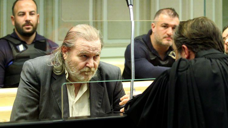 Jacques Rançon lors du dernier jour de son procès, le 26 mars 2018 à la cour d'assises des Pyrénées-Orientales de Perpignan. (MAXPPP)