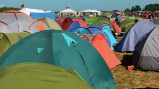 Chaque année au mois de juin, un village de tentes pousse dans les champs de Clisson.  (France 3 Pays de la Loire)