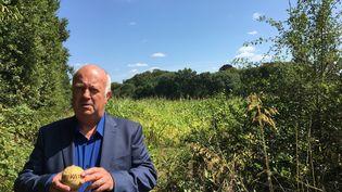 Daniel Cueff, maire de Langouët. (JUSTINE LECLERCQ / RADIO FRANCE)
