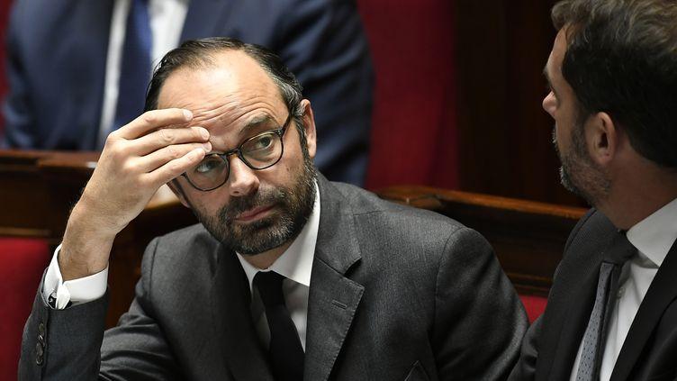 Le Premier ministre Edouard Philippe lors d'une séance de questions au gouvernement à l'Assemblée nationale, en octobre 2017. (LIONEL BONAVENTURE / AFP)