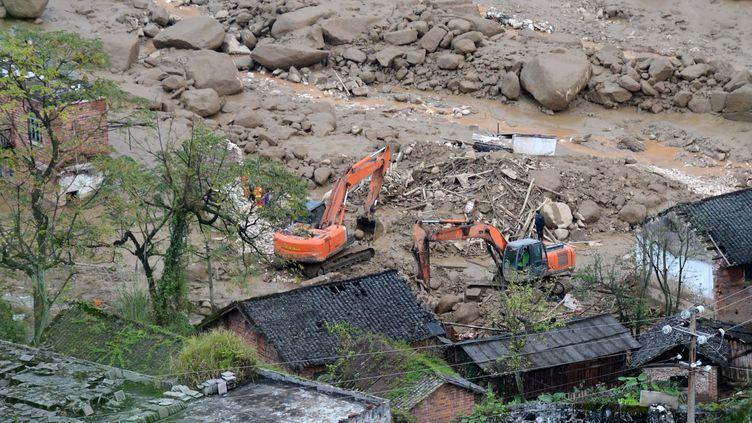 Glissement de terrain à Chenzhou, au centre de la province du Hunan, le 17 novembre 2015. (XINHUA / AFP)