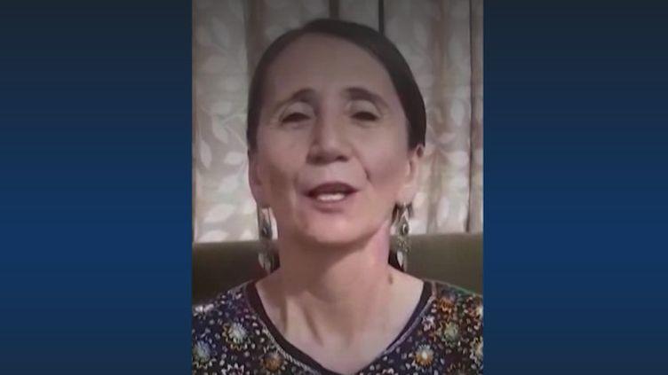 Sur Twitter, desAfghanes protestent contre une interdiction de chanter. (Capture d'écran Franceinfo)