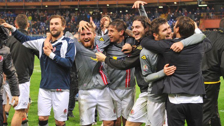 La joie des joueurs d'Alessandria  (LUCA ZENNARO / ANSA)