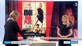 L'affiche de la pièce de théâtre Moi non plus et son héroïne Mathilde Bisson (France 3)