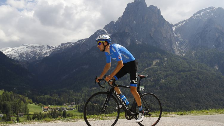 Alexander Foliforov, vainqueur de la 15e étape du Tour d'Italie (LUK BENIES / AFP)