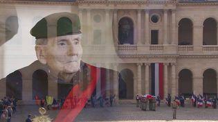 La France honore la mémoire d'Hubert Germain.  (FRANCEINFO)