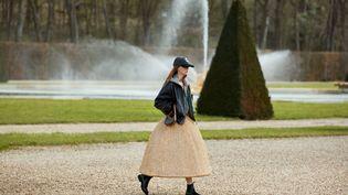 Collection féminine Celine automne-hiver 2021-22, le 14 avril 2021 à Vaux-le-Vicomte en France (Hedi Slimane.)