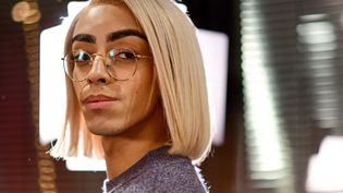 Bilal Hassani, candidat à l'Eurovision, 28 janvier 2019  (Anthony Ghnassia/SIPA)