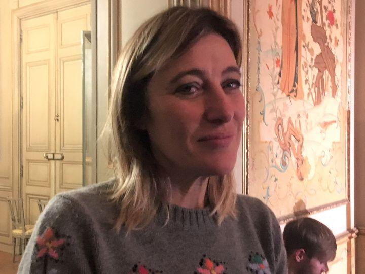 L'actrice et réalisatrice franco-italienne Valeria Bruni Tedeschi à l'ambassade d'Italie à Paris en décembre 2019. (Jacky Bornet / FranceInfoCulture)