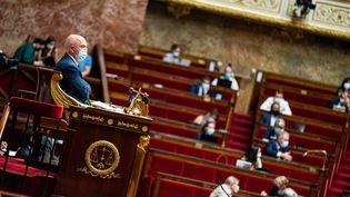 L'Assemblée Nationale à Paris, le 22 juillet 2021. (XOSE BOUZAS / HANS LUCAS / AFP)