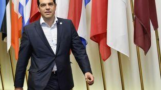 Le Premier ministre grecAlexis Tsipras arrives à Bruxelles (Belgique) le 26 juin 2015. (JOHN THYS / AFP)