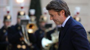 François Baroin, président de l'Association des maires de France, le 30 janvier 2018 à l'Elysée (LUDOVIC MARIN / AFP)