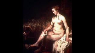 """""""Bethsabée au bain tenant la lettre de David"""", de Rembrandt  (Musée du Louvre / Icono / Sipa)"""