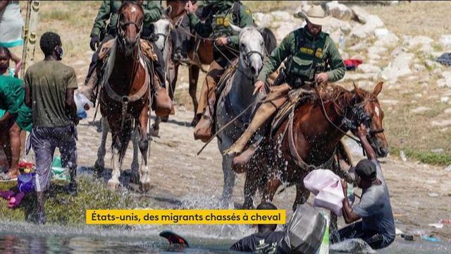 États-Unis : des gardes-frontières à cheval chassent des migrants, les images créent la polémique